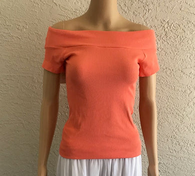 Coral Colored Off Shoulder Top by Scala