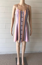 Load image into Gallery viewer, Multi Stripe Button Cami Dress