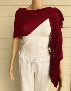 Magenta Knit Scarf by Lost River