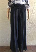 Load image into Gallery viewer, Navy Lightweight Wide Leg Pants