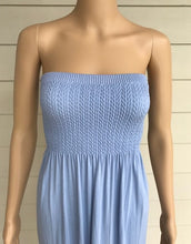 Load image into Gallery viewer, M. Rena Sky Blue Tube Top Maxi