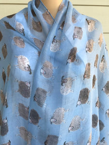 Alex Clark Light Blue Sheep Scarf