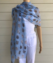 Load image into Gallery viewer, Alex Clark Light Blue Sheep Scarf