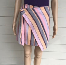 Load image into Gallery viewer, Multi Stripe Tie Front Skirt
