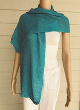 Load image into Gallery viewer, Turquoise Knit Scarf by Lost River