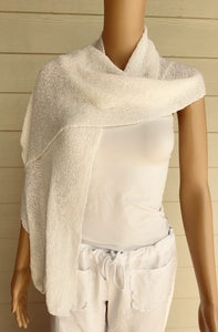 White Knit Scarf by Lost River