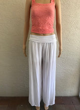Load image into Gallery viewer, White Lightweight Wide Leg Pants