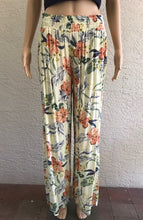 Load image into Gallery viewer, Yellow Flower Printed Pants by Look Mode