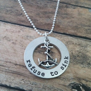 Refuse to Sink Washer Necklace
