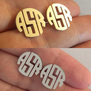 Personalized Initials Monogram Earrings