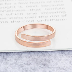 Personalized Slim Band Ring 3 Colors