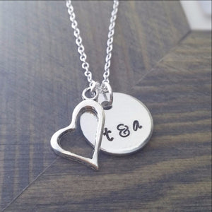 Personalized Couples Initials Necklace