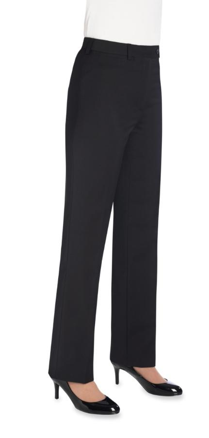 2109 - Varese Straight Leg Trouser (Regular) Ladies Suit Trouser Brook Taverner Black 6