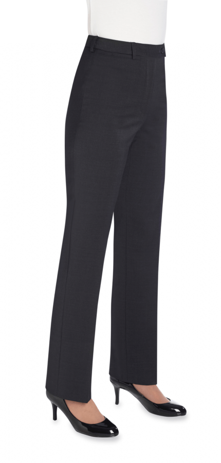 2109 - Varese Straight Leg Trouser (Regular) Ladies Suit Trouser Brook Taverner Charcoal 6
