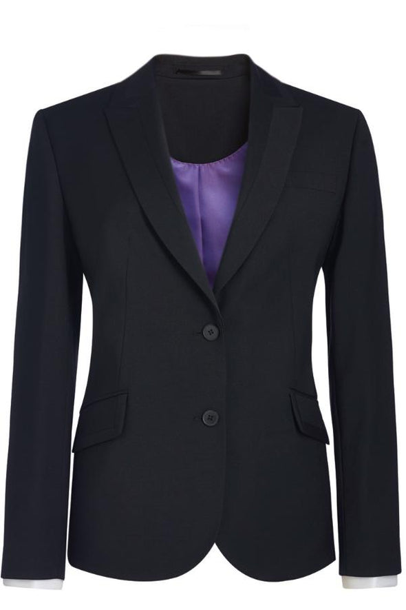 2222 - Novara Tailored Fit Jacket Ladies Suit Jacket Brook Taverner Black 6 Regular