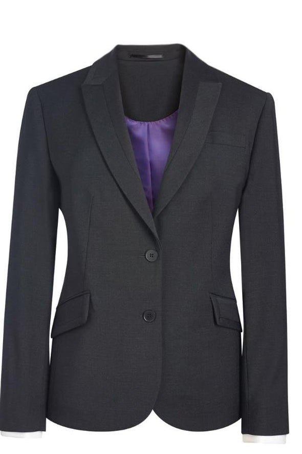 2222 - Novara Tailored Fit Jacket Ladies Suit Jacket Brook Taverner Charcoal 6 Regular