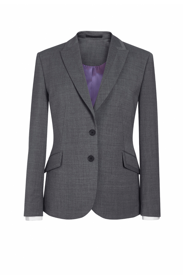 2222 - Novara Tailored Fit Jacket Ladies Suit Jacket Brook Taverner Light Grey 6 Regular