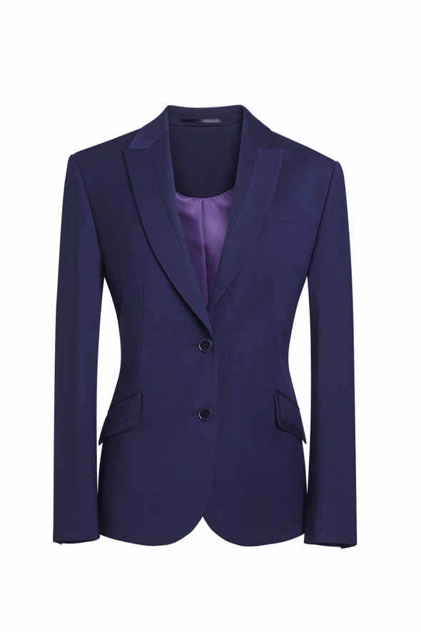 2222 - Novara Tailored Fit Jacket Ladies Suit Jacket Brook Taverner Mid Blue 6 Regular