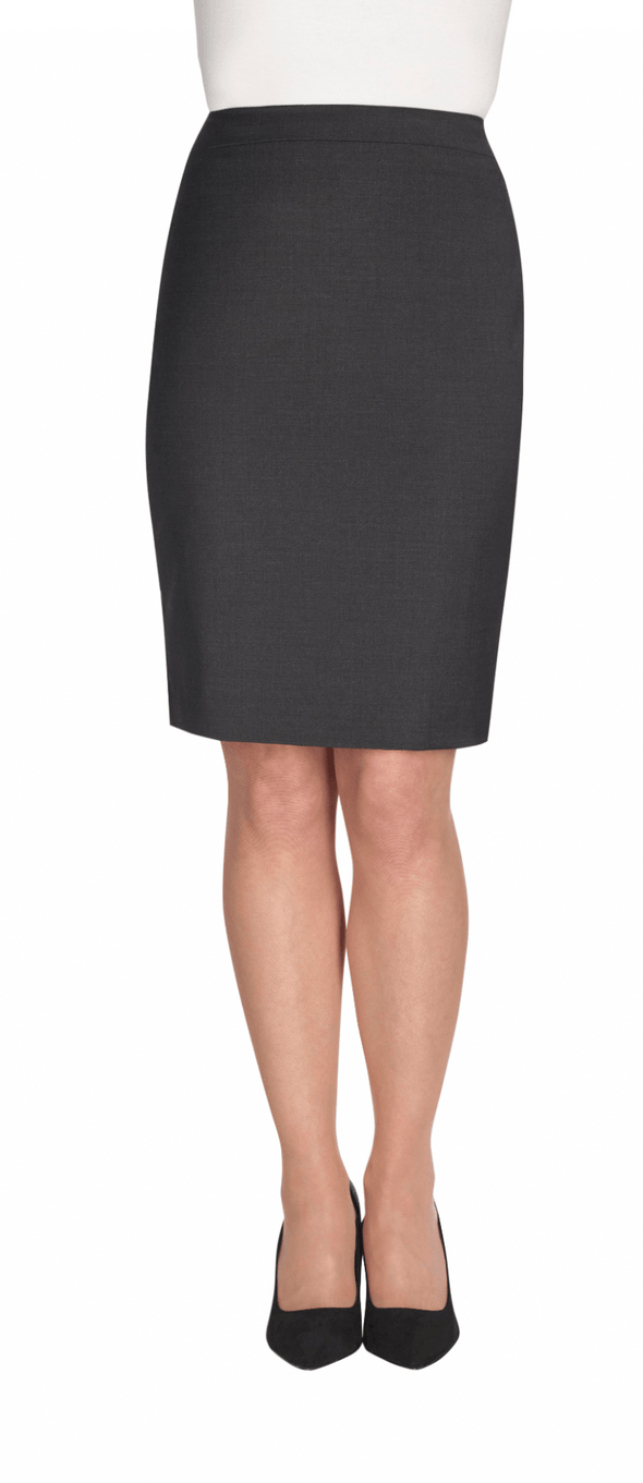 2224 - Numana Straight Skirt Skirts Brook Taverner Charcoal 4 Regular
