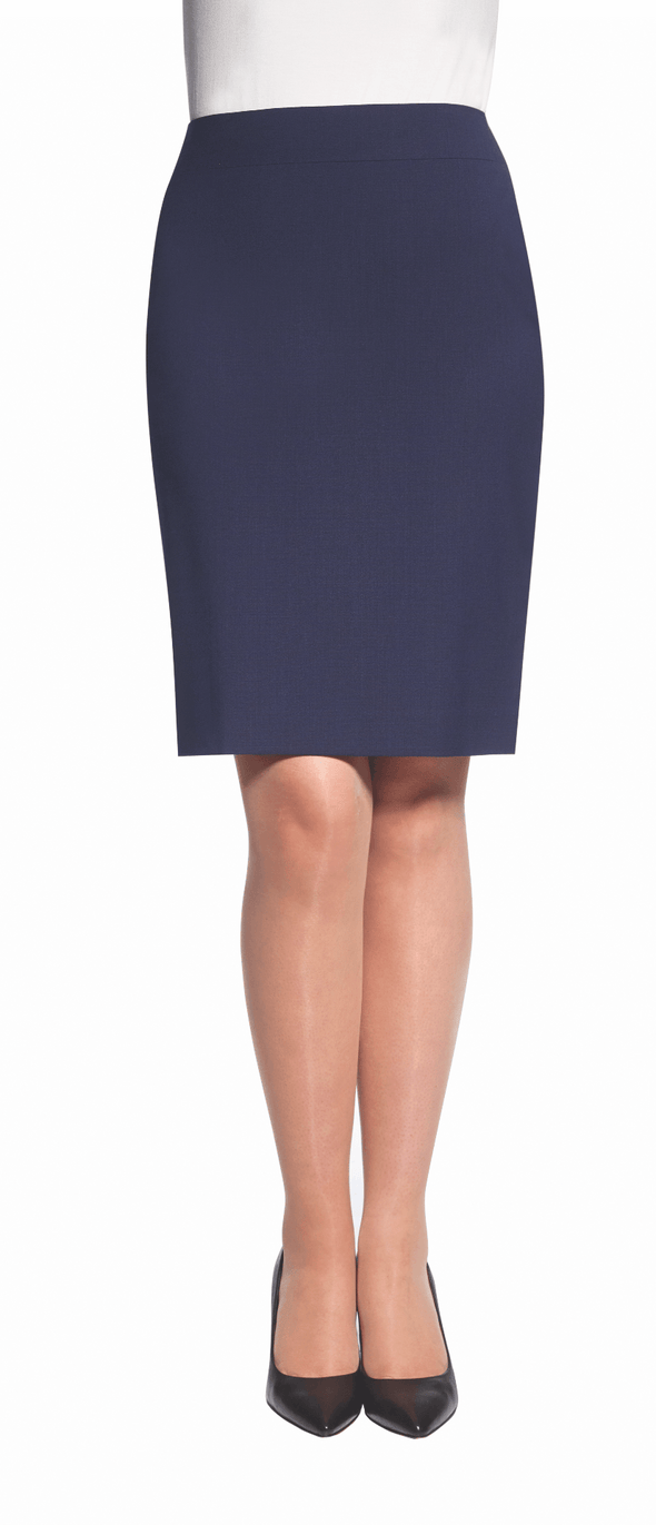 2224 - Numana Straight Skirt Skirts Brook Taverner Mid Blue 4 Regular