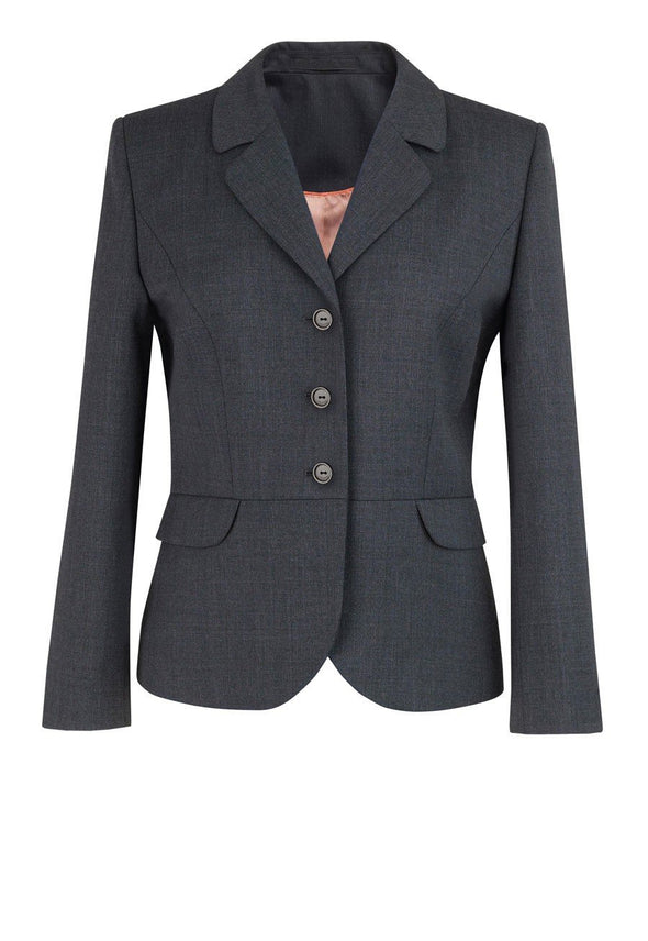 2228 - Mayfair Classic Fit Jacket Ladies Suit Jacket Brook Taverner Mid Grey 6 Short