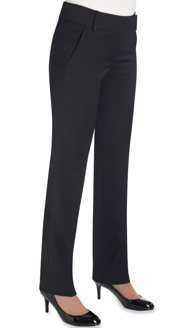 2234 - Genoa Tailored Leg Trouser (Unfinished) Brook Taverner Black 4 Unfinished