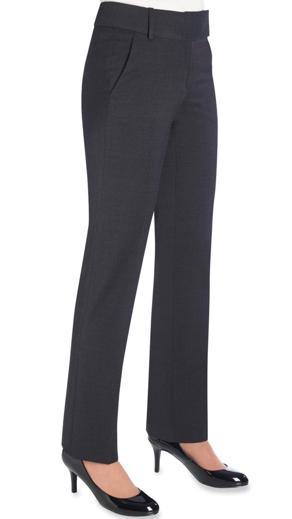 2234 - Genoa Tailored Leg Trouser (Unfinished) Brook Taverner Charcoal 4 Unfinished