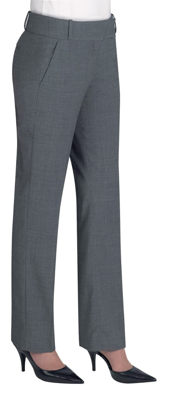 2234 - Genoa Tailored Leg Trouser (Unfinished) Brook Taverner Light Grey 4 Unfinished