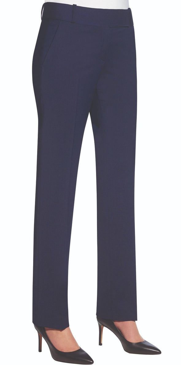 2234 - Genoa Tailored Leg Trouser (Unfinished) Brook Taverner Mid Blue 4 Unfinished