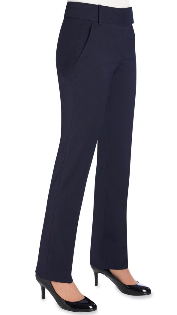 2234 - Genoa Tailored Leg Trouser (Unfinished) Brook Taverner Navy 4 Unfinished