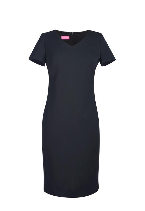 2246 - Corinthia V-Neck Dress Dresses Brook Taverner Black 6 Regular
