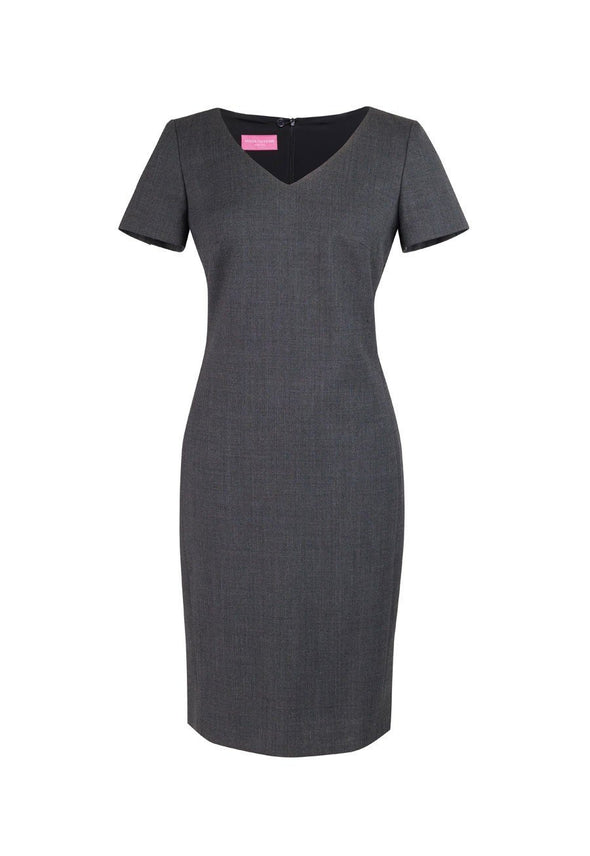2246 - Corinthia V-Neck Dress Dresses Brook Taverner Mid Grey 6 Regular