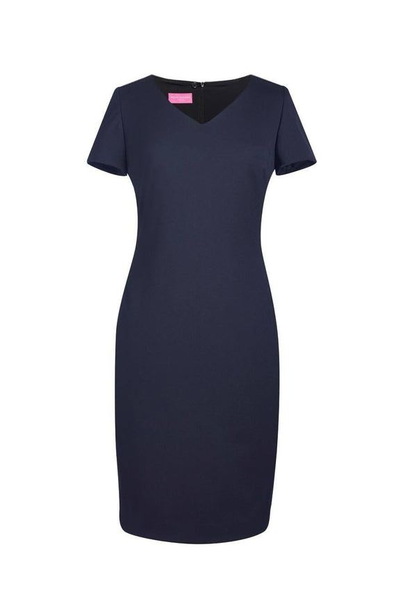 2246 - Corinthia V-Neck Dress Dresses Brook Taverner Navy 6 Regular