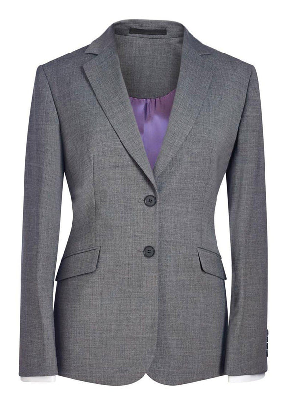 2250 - Opera Classic Fit Jacket Ladies Suit Jacket Brook Taverner Light Grey 6 Short