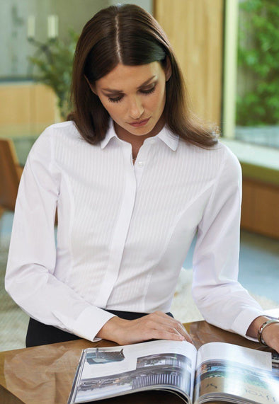 2251 - Franca Slim Fit Shirt Womens Long Sleeve Shirts Brook Taverner