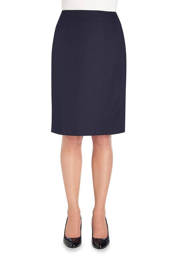 2258 - Pluto Straight Skirt Skirts Brook Taverner Navy 4