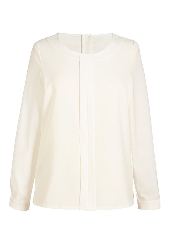 2264 - Riola Crepe de Chine Blouse Blouses Brook Taverner Cream 6