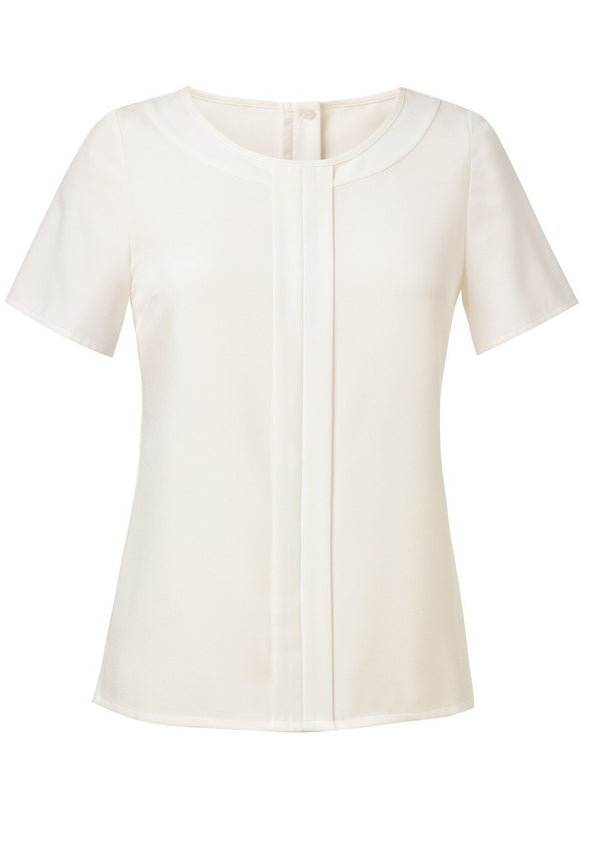 2265 - Felina Crepe de Chine Blouse Blouses Brook Taverner Cream 6