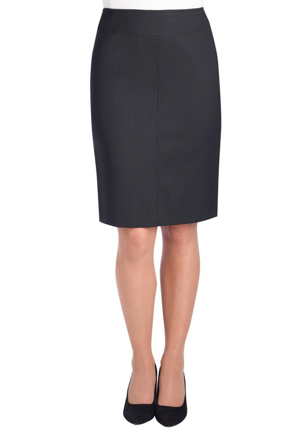 2275 - Juliet Straight Skirt Skirts Brook Taverner Black 4 Regular