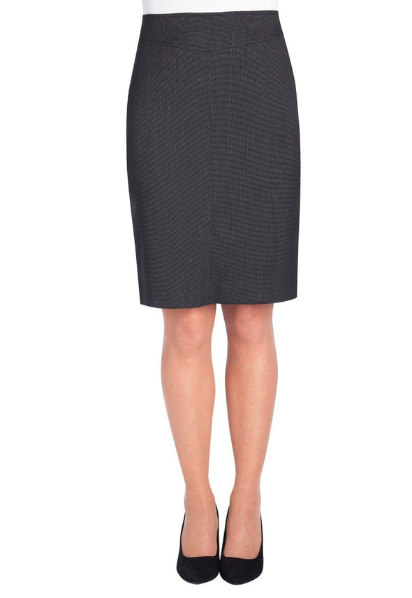 2275 - Juliet Straight Skirt Skirts Brook Taverner Charcoal Pin Dot 4 Regular