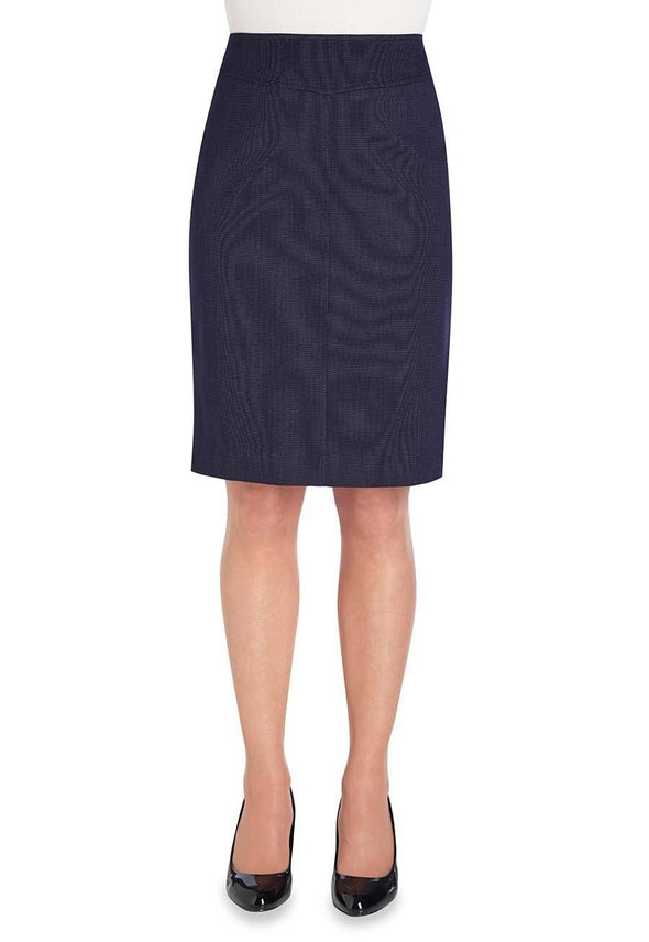 2275 - Juliet Straight Skirt Skirts Brook Taverner Navy Pin Dot 4 Regular