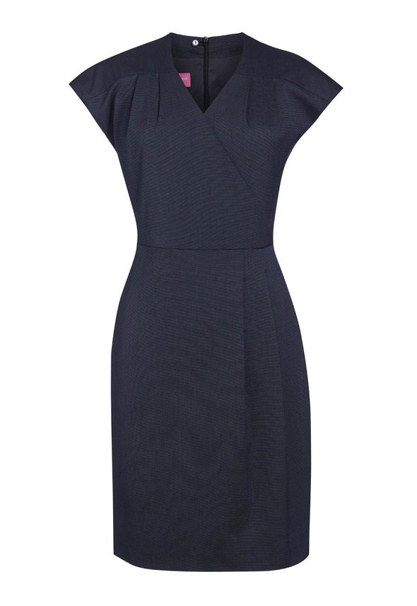 2285 - Cressida Dress Dresses Brook Taverner Navy Pin Dot 6 Regular