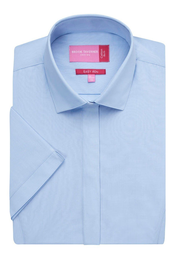 2296 - Modena Shirt Womens Short Sleeve Shirts Brook Taverner Blue 6