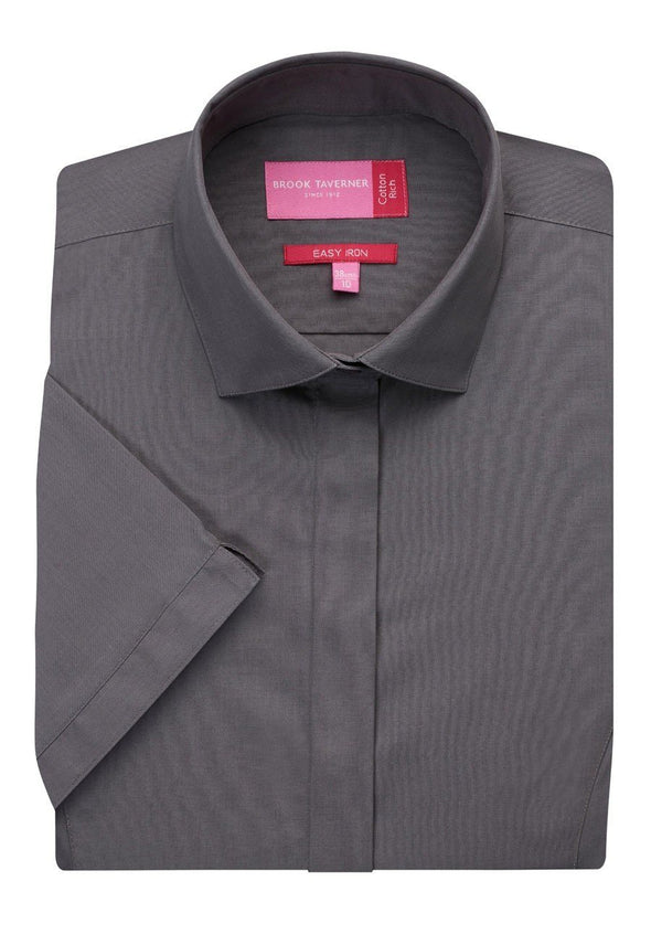 2296 - Modena Shirt Womens Short Sleeve Shirts Brook Taverner Grey 6
