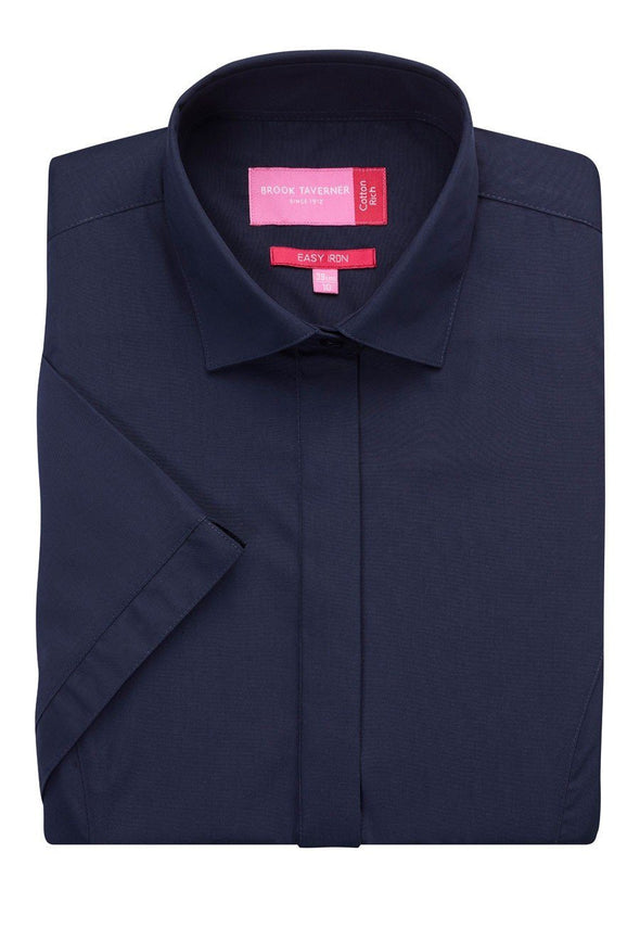 2296 - Modena Shirt Womens Short Sleeve Shirts Brook Taverner Navy 6