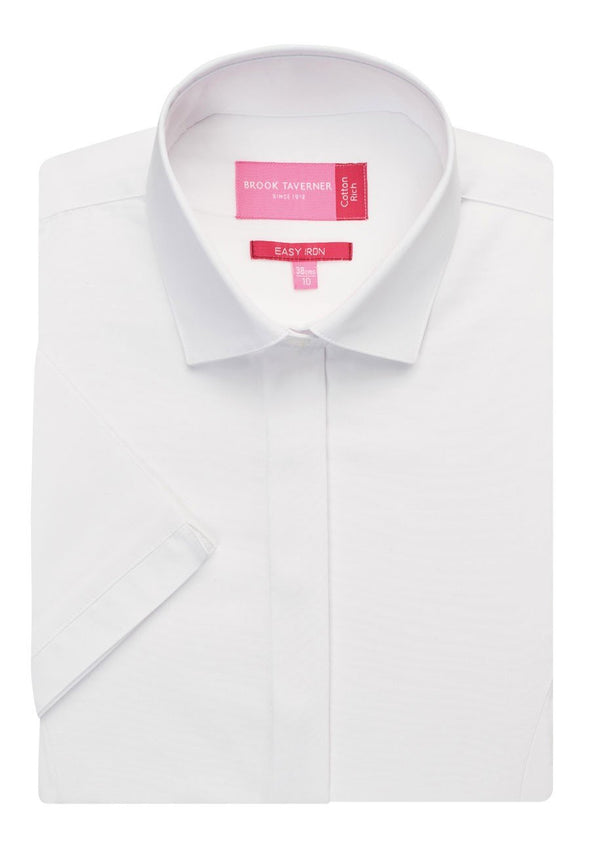2296 - Modena Shirt Womens Short Sleeve Shirts Brook Taverner White 6