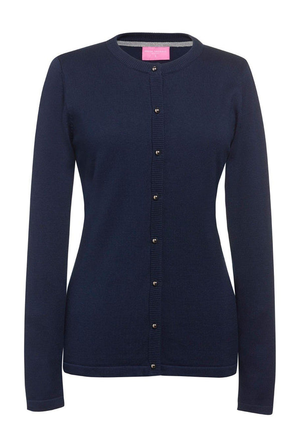 2308 - Seattle Crew-Neck Cardigan Womens Knitwear Brook Taverner Navy XS