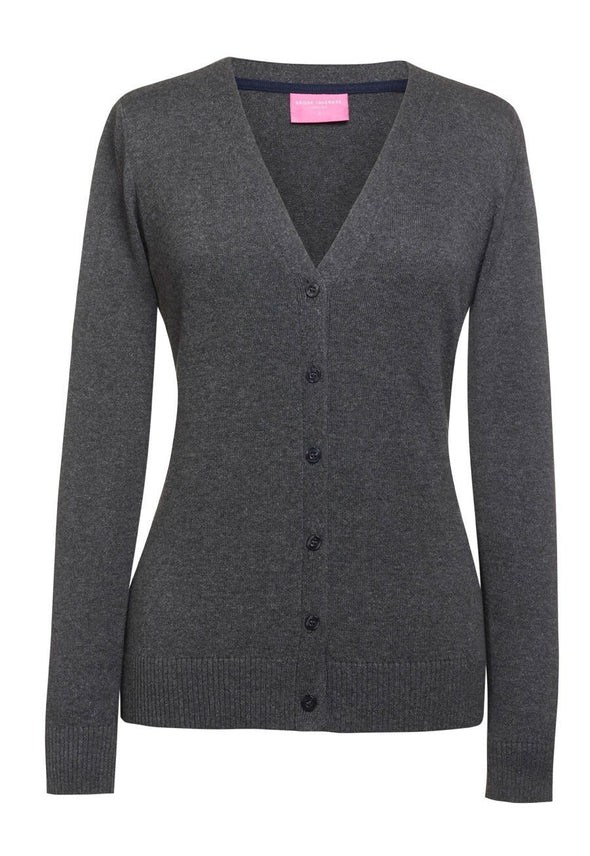 2309 - Augusta V-Neck Cardigan Womens Knitwear Brook Taverner Charcoal XS