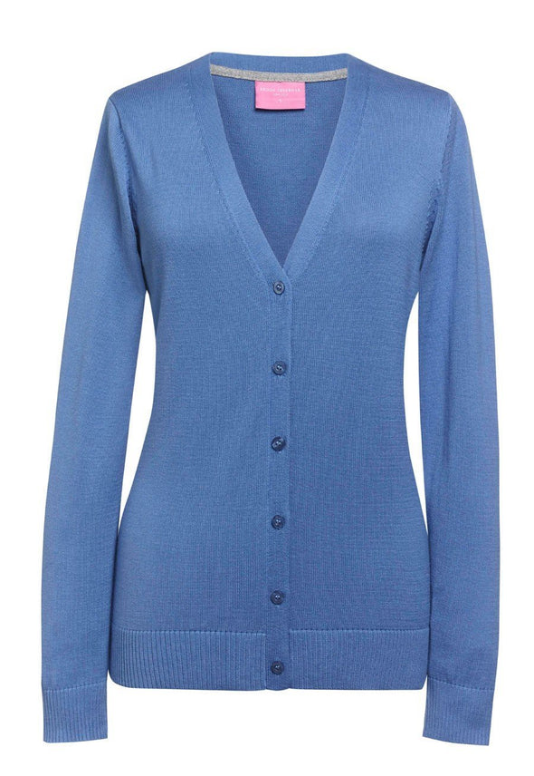 2309 - Augusta V-Neck Cardigan Womens Knitwear Brook Taverner Light Blue XS