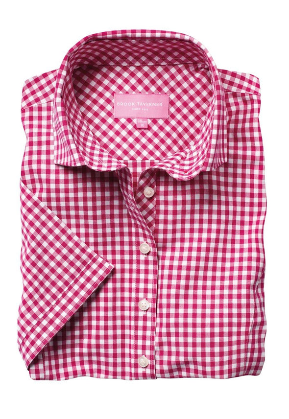 2322 - Tulsa Shirt Womens Short Sleeve Shirts Brook Taverner Red 6